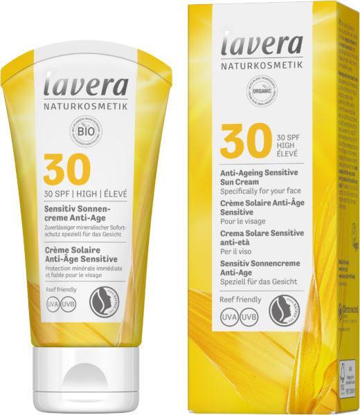 лавера слънцезащитен крем за лице 30 фактор